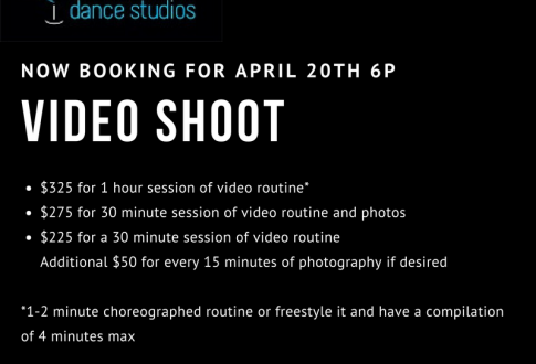 Video shoot services coming soon!